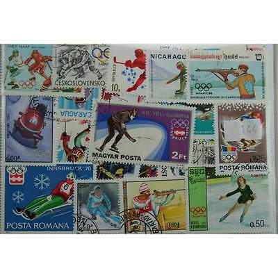 100 Olympics stamps  (winter) (144)