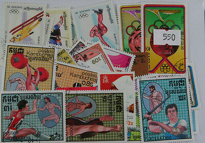 100 Olympics stamps  (550)