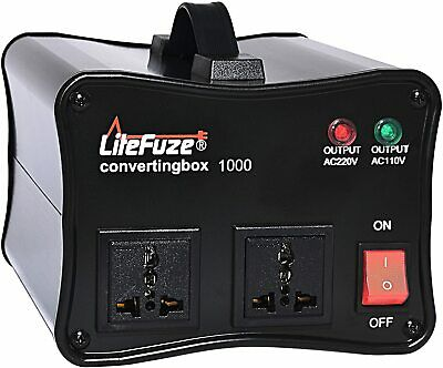 LiteFuze convertingbox 1000 Watt Voltage Converter Transformer Premium - Black