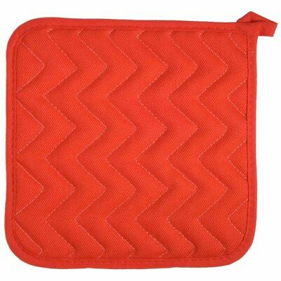 Now Designs Red Oven Pot Holder Grab 100% Cotton Quilted Kitchen Cloth Cook New