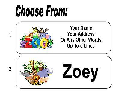 30 Zoo Animal Personalized Address Labels / Child's Name Labels