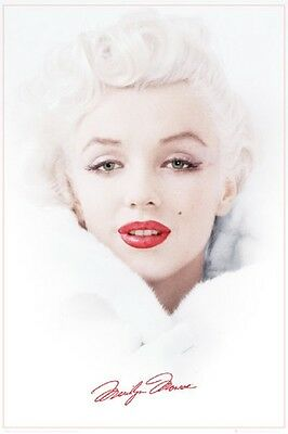Marilyn Monroe Poster Winter White Iconic Art Print 24x36