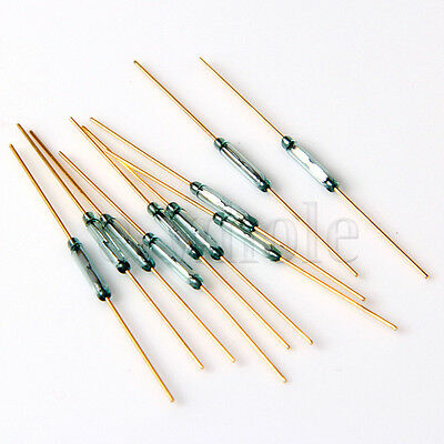 10x 10mm Reed Switch Glass N/O Low Voltage Current MKA10110 HM