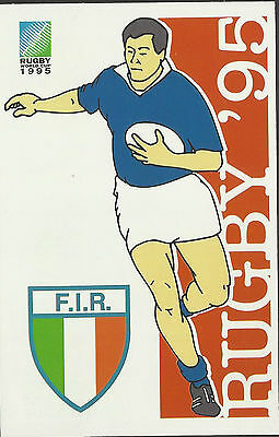 SOUTH AFRICA 1995 RUGBY WORLD CUP ITALY Pre Stamped POSTCARD