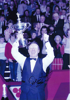 Dennis Taylor Hand Signed Photo 12x8 Snooker Champion.