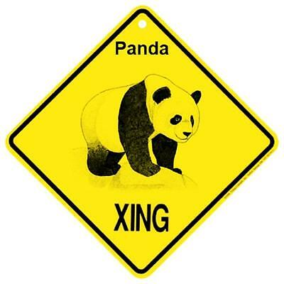Panda Bear Crossing Xing Sign New Made in USA