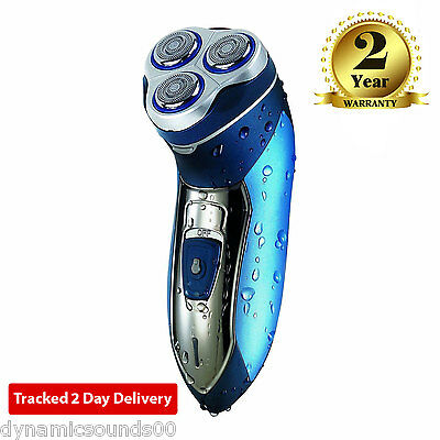 Dynamic Mens Electric Shaver Cordless Rechargeable Washable Floating 3 Heads
