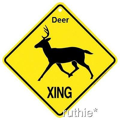 Deer Crossing Xing Sign New made in USA