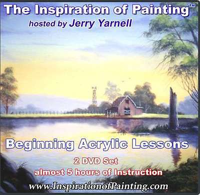 Jerry Yarnell BEGINNING ACRYLIC LESSONS art dvds Inspiration of Painting series