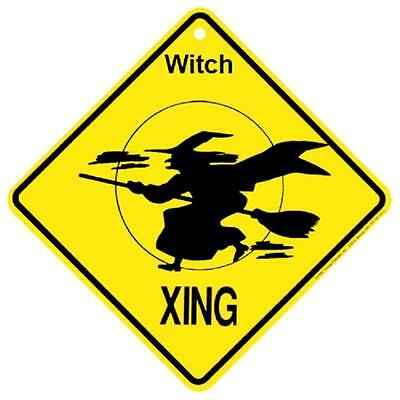 Witch Crossing Xing Sign New Made in USA