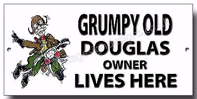 LARGE A3 SIZE DOUGLAS DRAGONFLY 1957 350CC MOTORCYCLE ENAMELLED METAL SIGN.