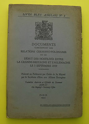 Livre Bleu Anglais N 1 Documents Relations Germano
