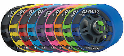Colorful Clawz Indoor Quad Speed Skate Wheels 95A 62mm  Set of 8