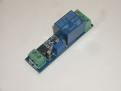 MPJ 31807RL Time Delay Relay Module 0-10Sec Delay on Make 5VDC SPDT 10AMP
