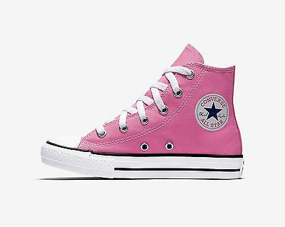266b4242 CONVERSE Chuck Taylor All Star Hi Top Pink Shoes Youth Kids Girls Sneakers  3J234