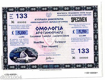 Obligation : CHYPRE CYPRUS 1993 -  2000 OBLIGATION // LOAN BOND serie 133