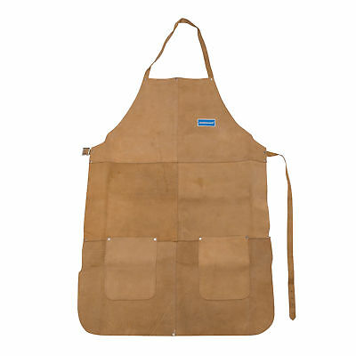 Silverline Welders Blacksmith Welding Apron Chrome Leather Tan Heavy Duty Long