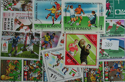 50 Football stamps in packet.  (389)