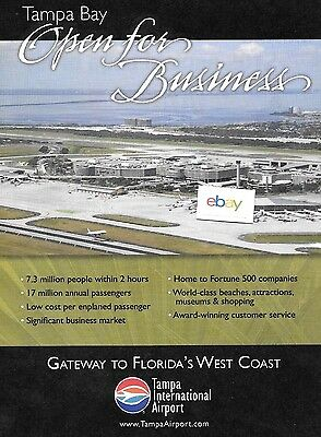 Tampa International Airport Is Open For Business Aerial 2011 Ad