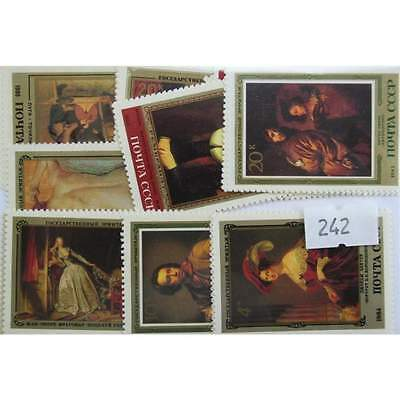 Paintings (Russia only). 25 stamps, all different. (242)