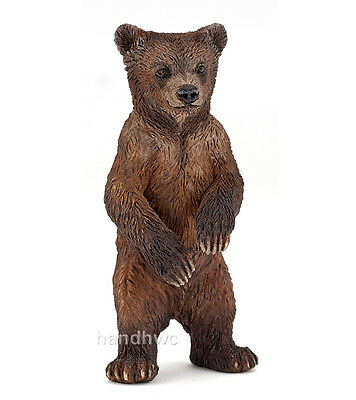Papo 50163 Grizzly Bear Cub Animal Figurine Model Toy Gift - NIP
