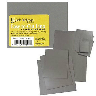 "Jack Richeson Easy to Cut Unmounted Linoleum Block 3""x4"" 799001"