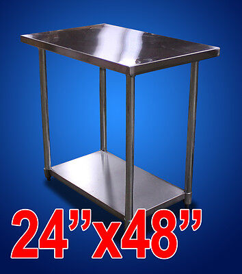 "New Commercial Kitchen Restaurant Stainless Steel Prep Work Table - 24""x48"" NSF"