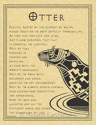 OTTER PRAYER POSTER A4 SIZE Wicca Pagan Witch Goth BOOK OF SHADOWS