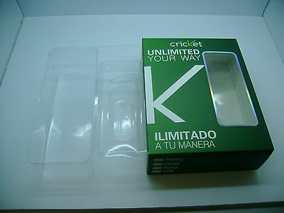 Lot Of 50 New Cellphone Empty Box Plus Insert Packing Green With Cricket Logo