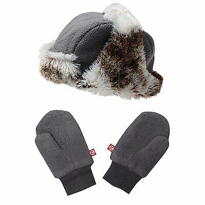NWT ZUTANO SHAGGY HAT and MITTENS SET - GRAY Size 2T