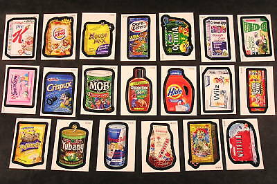2010 Wacky Packages ANS7 Series 7 WACK-O-MERCIAL SUB-SET OF 20 sticker cards nm+