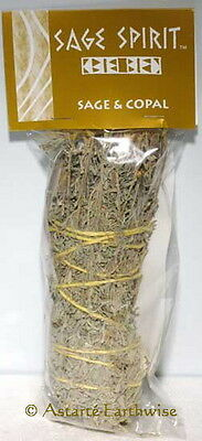 SMUDGE STICK: 177 mm SAGE & COPAL Wicca Witch Reiki Pagan CLEANSING BLESSINGS