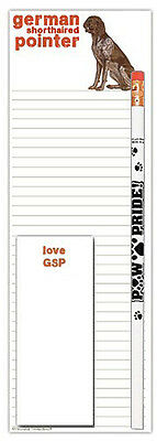 German Shorthair Pointer Notepad & Pencil Gift Set