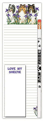 Sheltie Dog Notepads To Do List Pad Pencil Gift Set