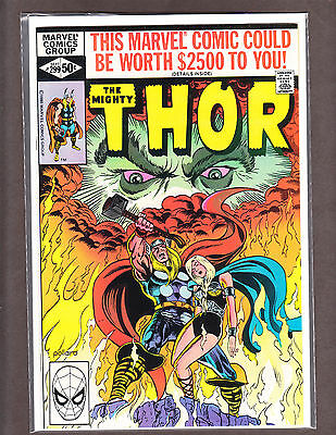 THE MIGHTY THOR 299 RARE BRONZE-AGE BEAUTY 1980 NM 9.4 ~WOW~