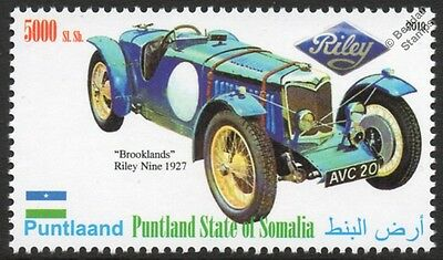 1927 RILEY BROOKLANDS NINE Sports / Race Car Automobile Stamp