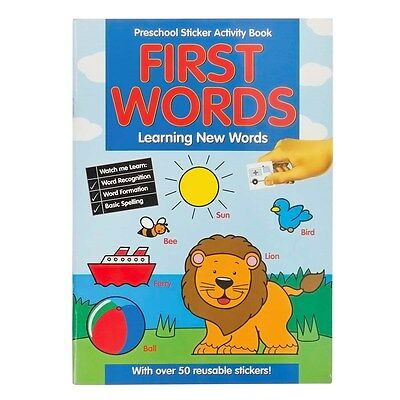 Learn First Words & Spelling Preschool Sticker Activity Colouring Book 201/pss