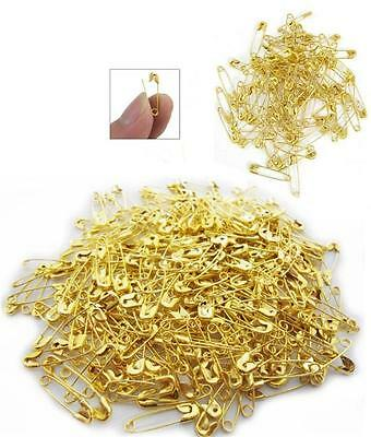 19mm Brass Gilt Metal Small Safety Pins Sewing Running Cycling Various Qty's