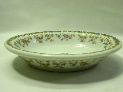 Lamberton Soap Dish White with Floral Garland