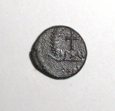 Ancient Roman Empire, 1st - 3rd c. AD. Bronze Coin, Cross