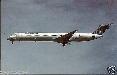 Airline Postcard - Continental - MD-82 - N76823 - Landing (P3602)