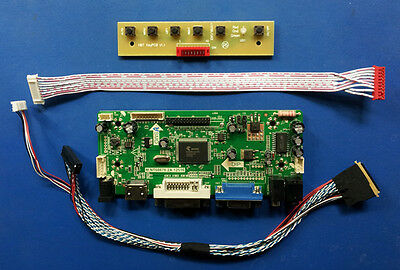"HDMI VGA DVI Audio Board for 15.6"" 1920x1080 LVDS LCD LP156WF4-SLB1 SLB4 SLC1"