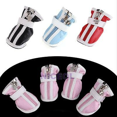New Hot PU Leather Comfortable Boots Waterproof Shoes For Small Big Pet Dog