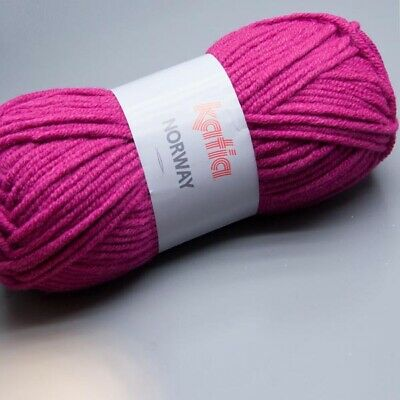 Katia Norway 017 very berry 100g Wolle (4.95 EUR pro 100 g)