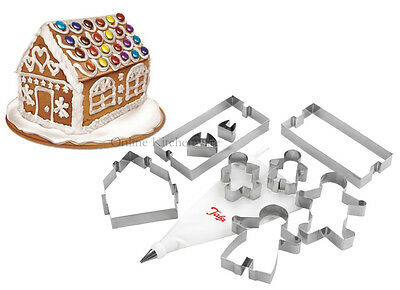 Tala Gingerbread House & Family Cookie Cutter Baking Set Christmas Xmas Gift