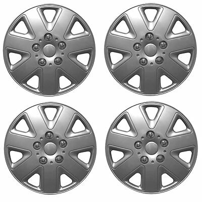 """ALLOY LOOK SET OF 4 x 13 INCH SILVER WHEEL TRIMS COVERS HUB CAPS 13"""""""