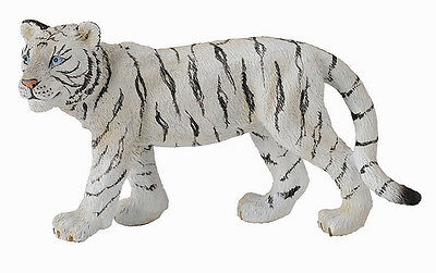 CollectA 88429 White Tiger Cub Walking Toy Figurine Wildlife Model - NIP