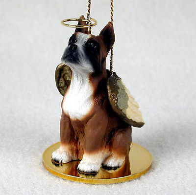 Boxer Ornament Angel Figurine Hand Painted