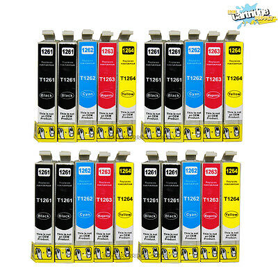 20PK 126 T126 High Yield Ink  for Epson Stylus NX330 NX430 WF435/545/630