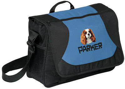 Cavalier King Charles Spaniel Embroidered Messenger Bag